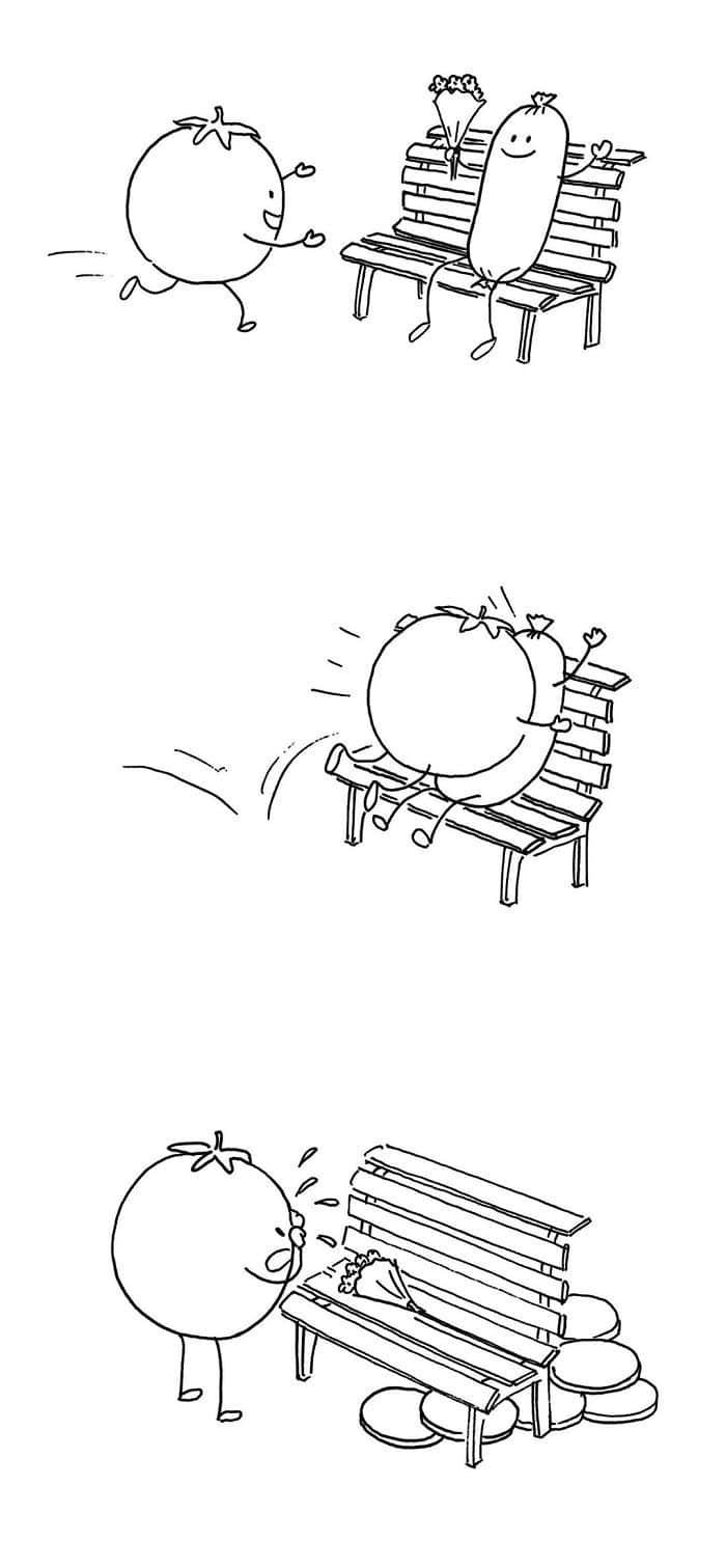 Artista chinês desenha quadrinhos engraçados com reviravoltas surpresa (35 fotos) 17