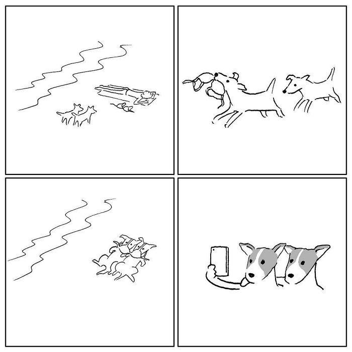 Artista chinês desenha quadrinhos engraçados com reviravoltas surpresa (35 fotos) 21