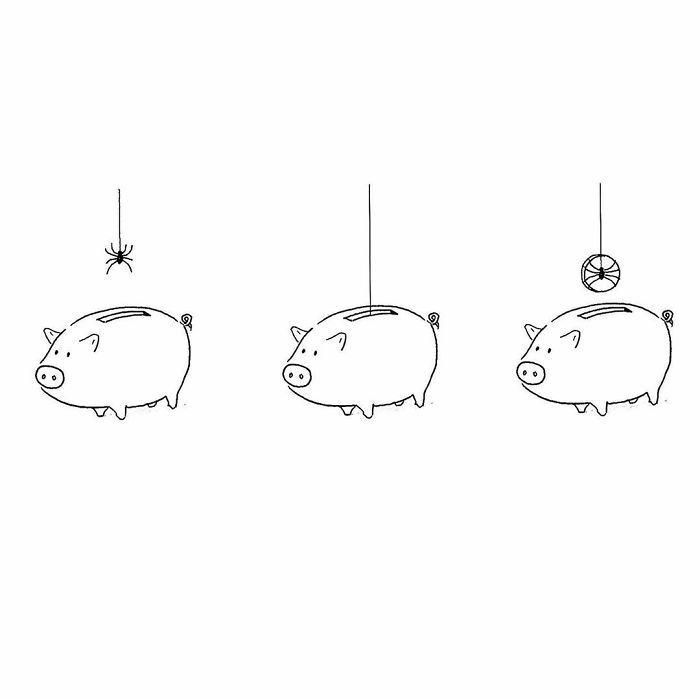 Artista chinês desenha quadrinhos engraçados com reviravoltas surpresa (35 fotos) 29