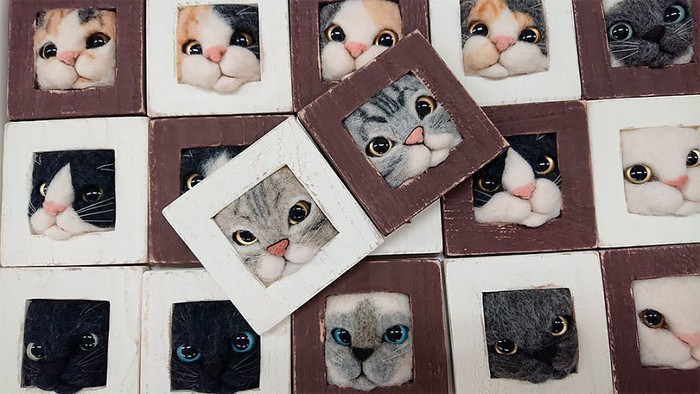 Artista japonesa cria retratos ultrarrealistas de gatos (34 fotos) 4