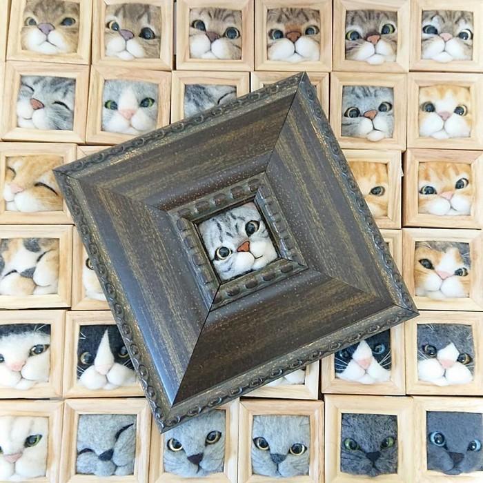 Artista japonesa cria retratos ultrarrealistas de gatos (34 fotos) 5