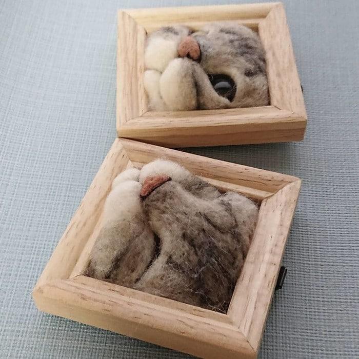 Artista japonesa cria retratos ultrarrealistas de gatos (34 fotos) 8