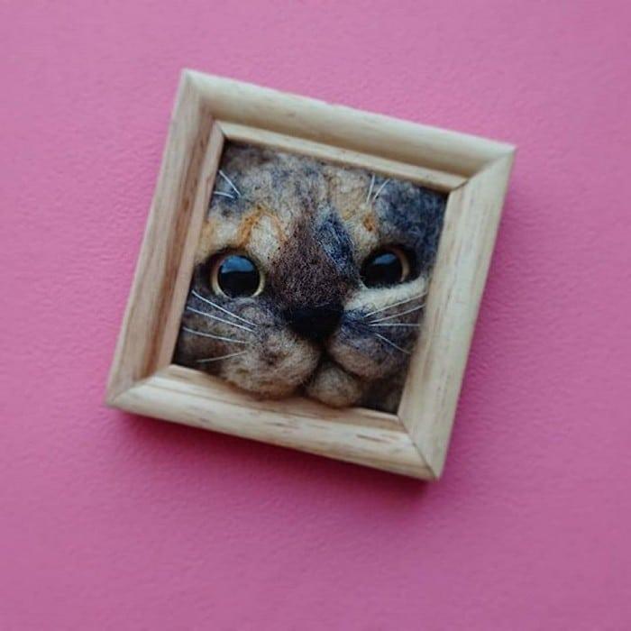 Artista japonesa cria retratos ultrarrealistas de gatos (34 fotos) 13