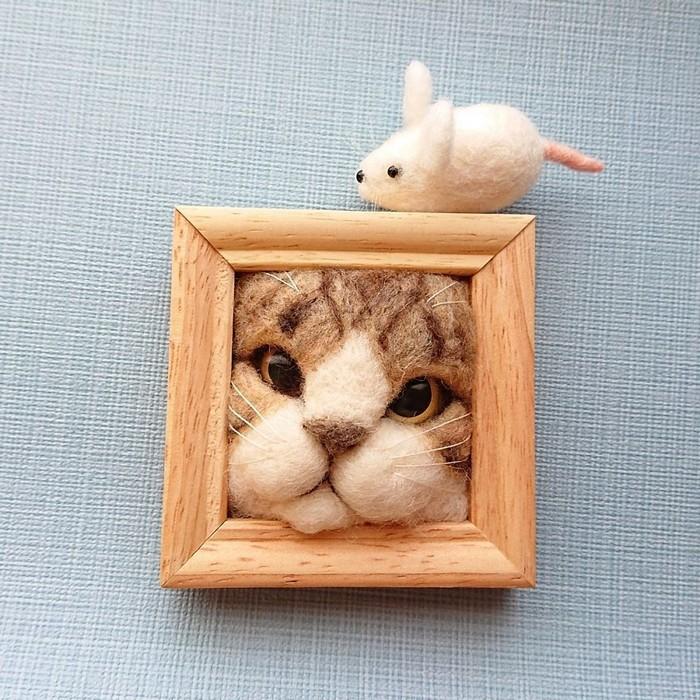 Artista japonesa cria retratos ultrarrealistas de gatos (34 fotos) 14
