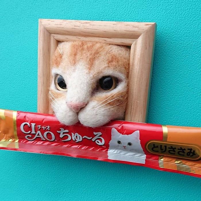 Artista japonesa cria retratos ultrarrealistas de gatos (34 fotos) 21