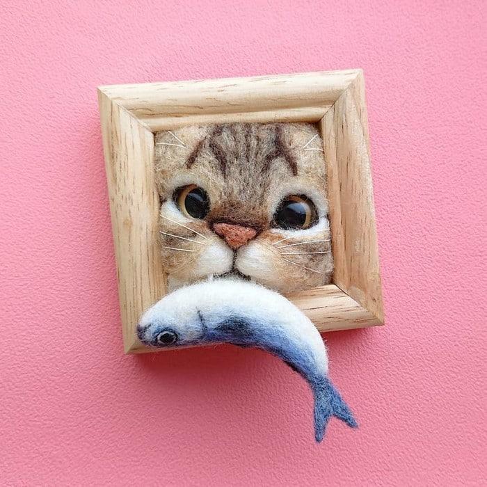 Artista japonesa cria retratos ultrarrealistas de gatos (34 fotos) 23