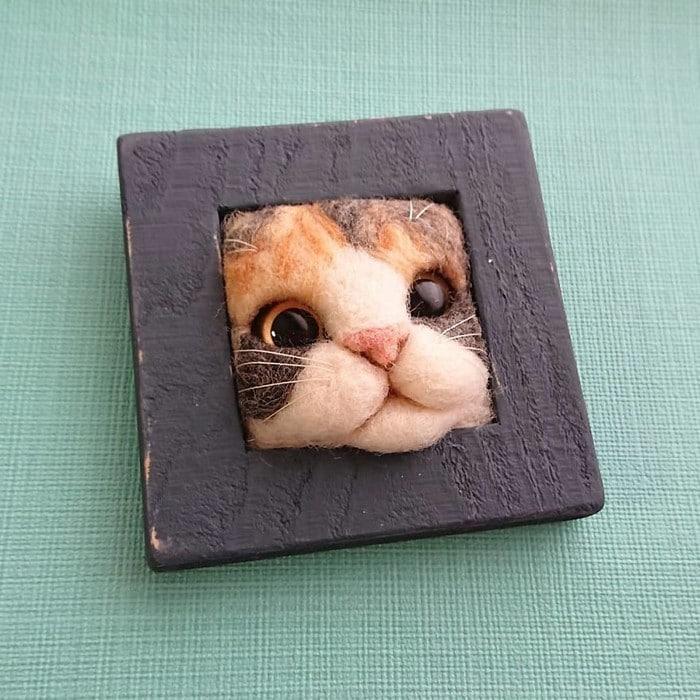 Artista japonesa cria retratos ultrarrealistas de gatos (34 fotos) 26