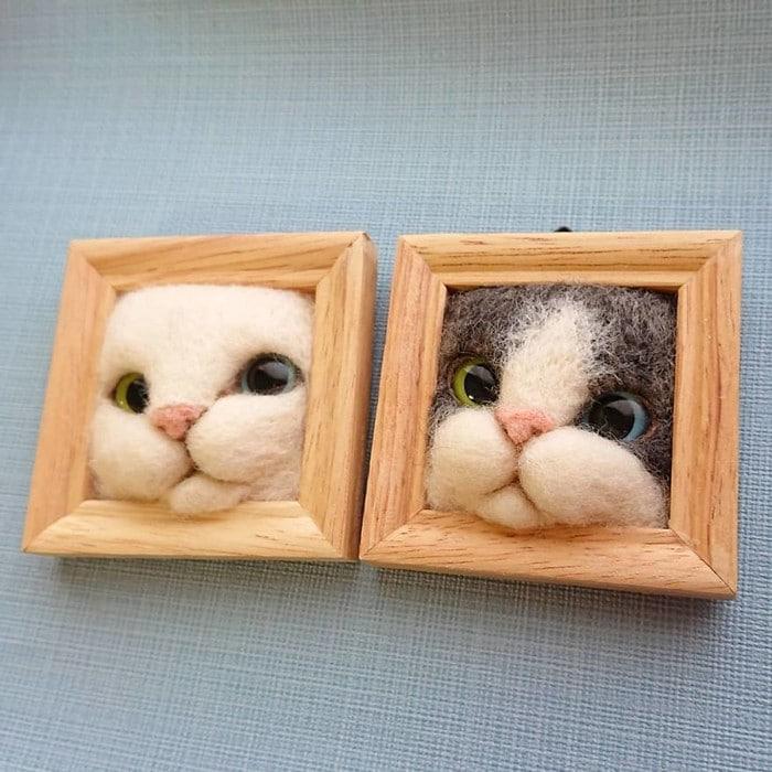 Artista japonesa cria retratos ultrarrealistas de gatos (34 fotos) 30