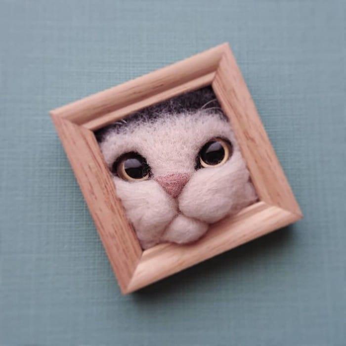 Artista japonesa cria retratos ultrarrealistas de gatos (34 fotos) 31
