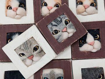 Artista japonesa cria retratos ultrarrealistas de gatos (34 fotos) 2