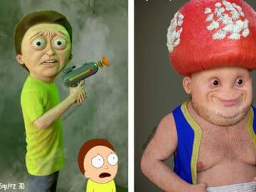 Artista mostra como os personagens de desenho animado ficariam na vida real e podem arruinar sua infância (14 fotos) 10