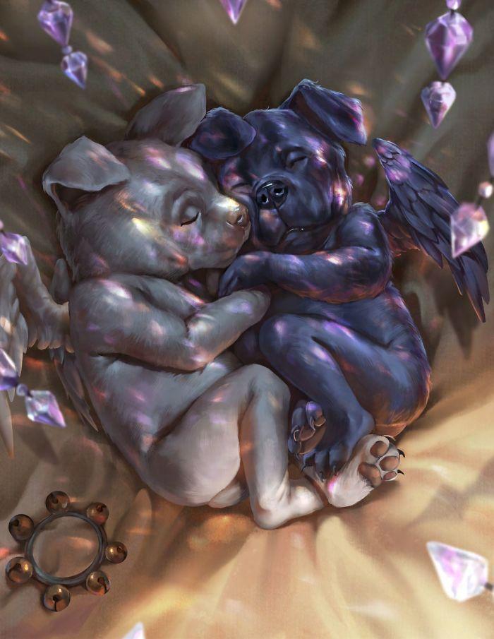 Artista retrata criaturas místicas em sua forma vulnerável, quando ainda eram bebês (30 fotos) 26