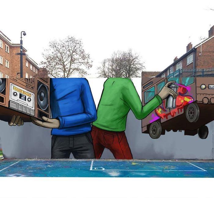 Artista sul-africano pinta grafites incríveis que interagem com o ambiente (32 fotos) 5