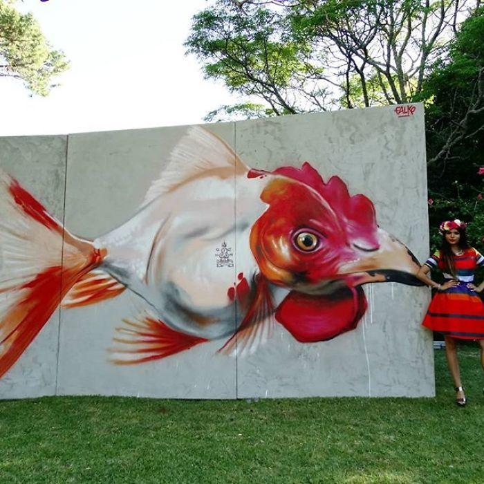 Artista sul-africano pinta grafites incríveis que interagem com o ambiente (32 fotos) 16