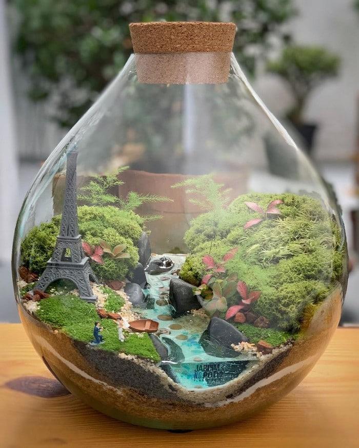 Artistas criam mundos minúsculos em recipientes de vidro (42 fotos) 9
