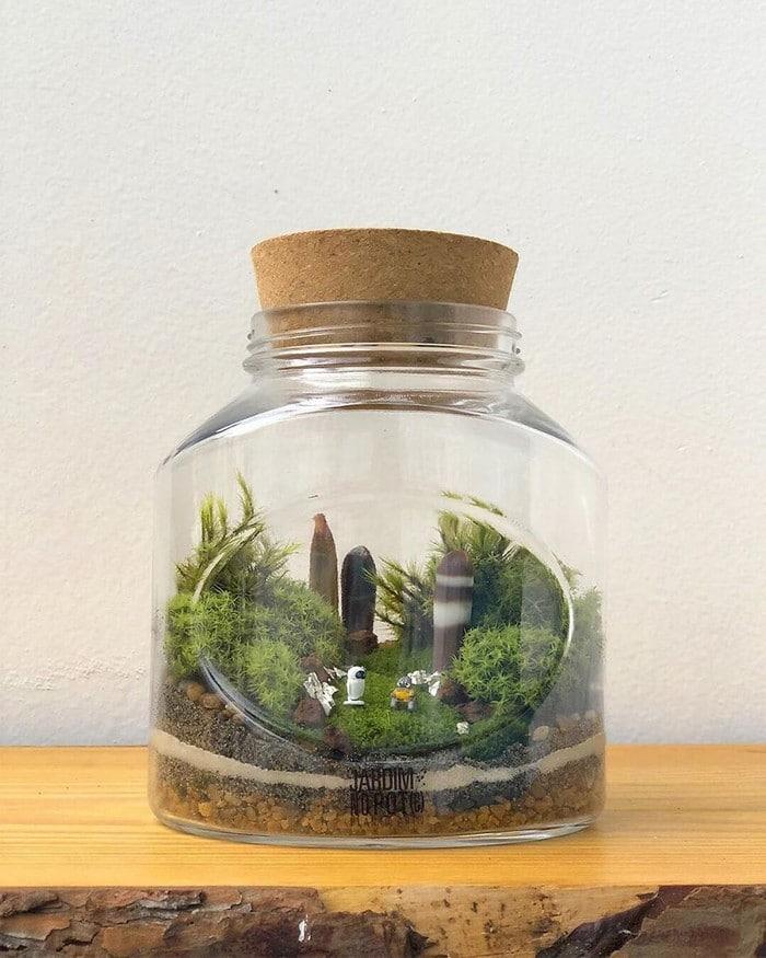 Artistas criam mundos minúsculos em recipientes de vidro (42 fotos) 10