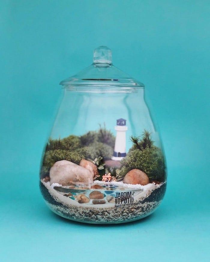 Artistas criam mundos minúsculos em recipientes de vidro (42 fotos) 11