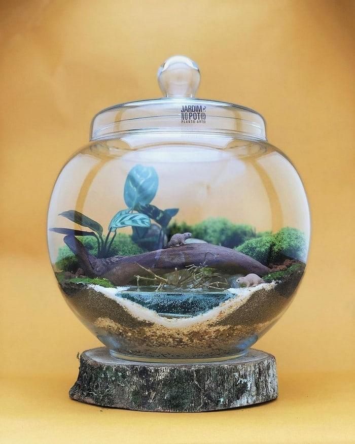 Artistas criam mundos minúsculos em recipientes de vidro (42 fotos) 16