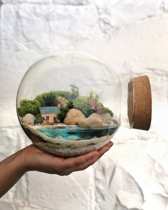 Artistas criam mundos minúsculos em recipientes de vidro (42 fotos) 17