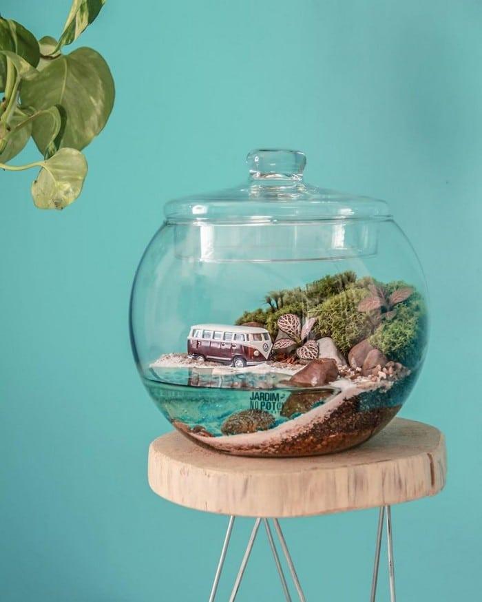 Artistas criam mundos minúsculos em recipientes de vidro (42 fotos) 32