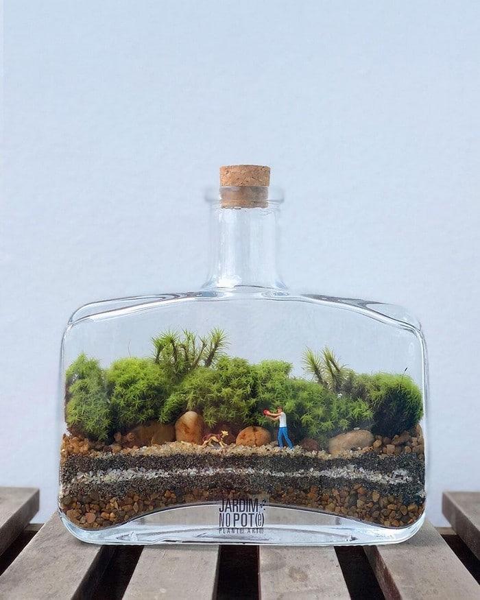 Artistas criam mundos minúsculos em recipientes de vidro (42 fotos) 33