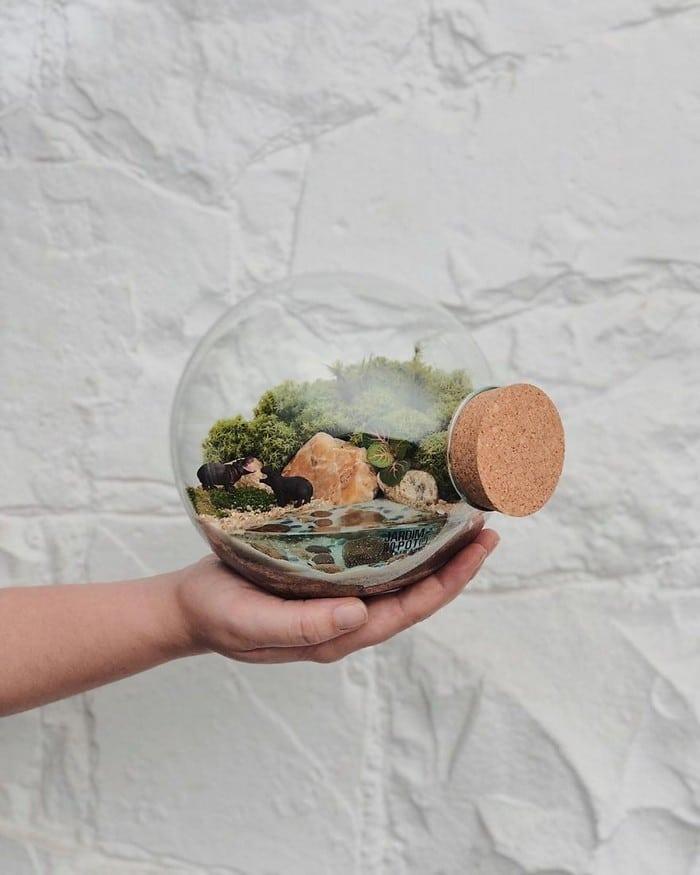 Artistas criam mundos minúsculos em recipientes de vidro (42 fotos) 34