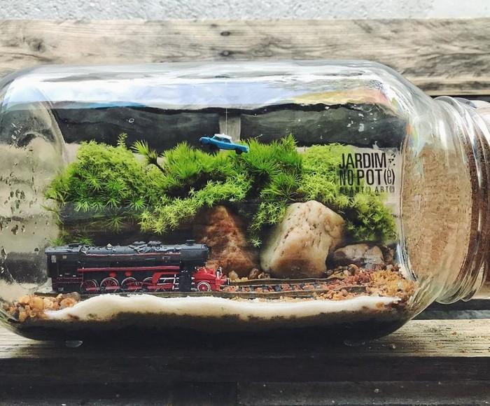 Artistas criam mundos minúsculos em recipientes de vidro (42 fotos) 37