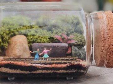 Artistas criam mundos minúsculos em recipientes de vidro (42 fotos) 43