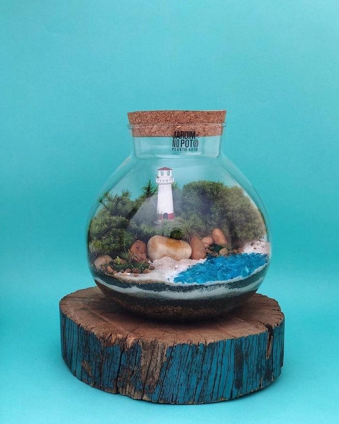 Artistas criam mundos minúsculos em recipientes de vidro (42 fotos) 39