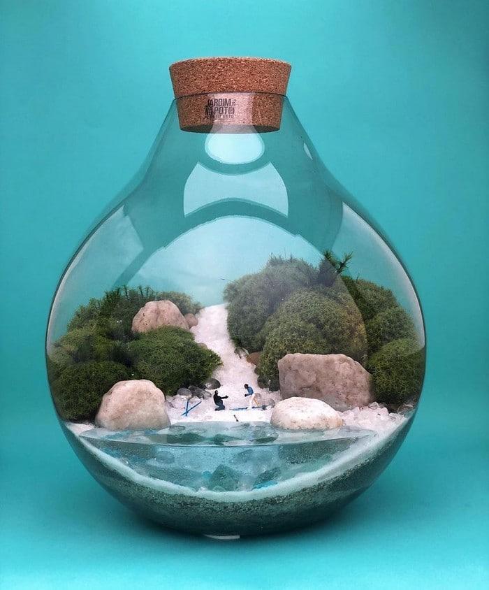 Artistas criam mundos minúsculos em recipientes de vidro (42 fotos) 42