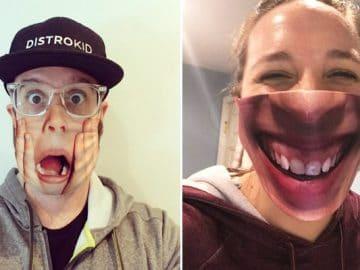 As pessoas estão se protegendo com máscaras engraçadas ultra-realistas (21 fotos) 24