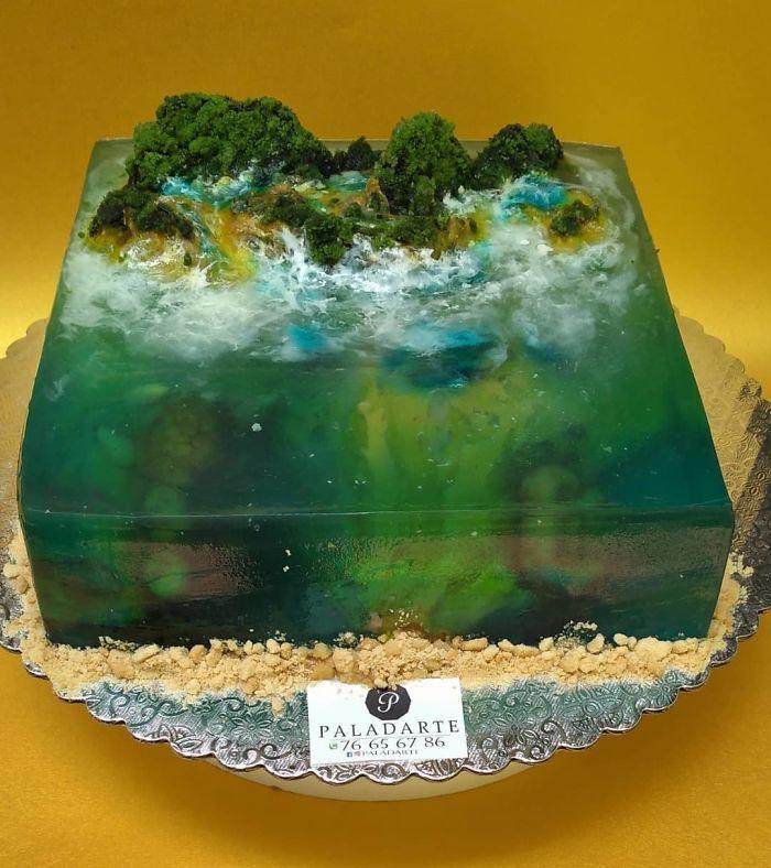 32 bolos que parecem ilhas paradisíacas 4