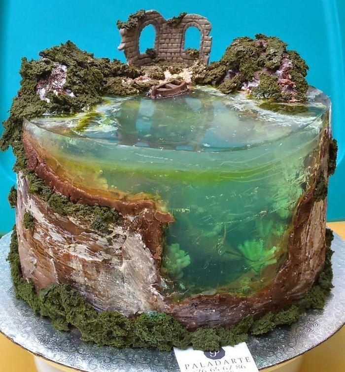 32 bolos que parecem ilhas paradisíacas 5