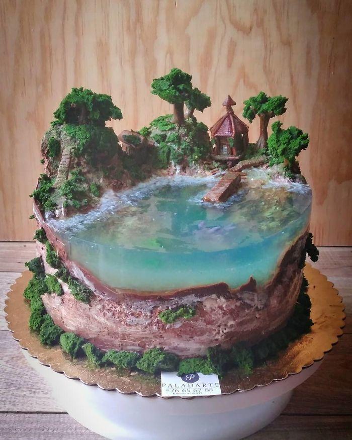 32 bolos que parecem ilhas paradisíacas 8