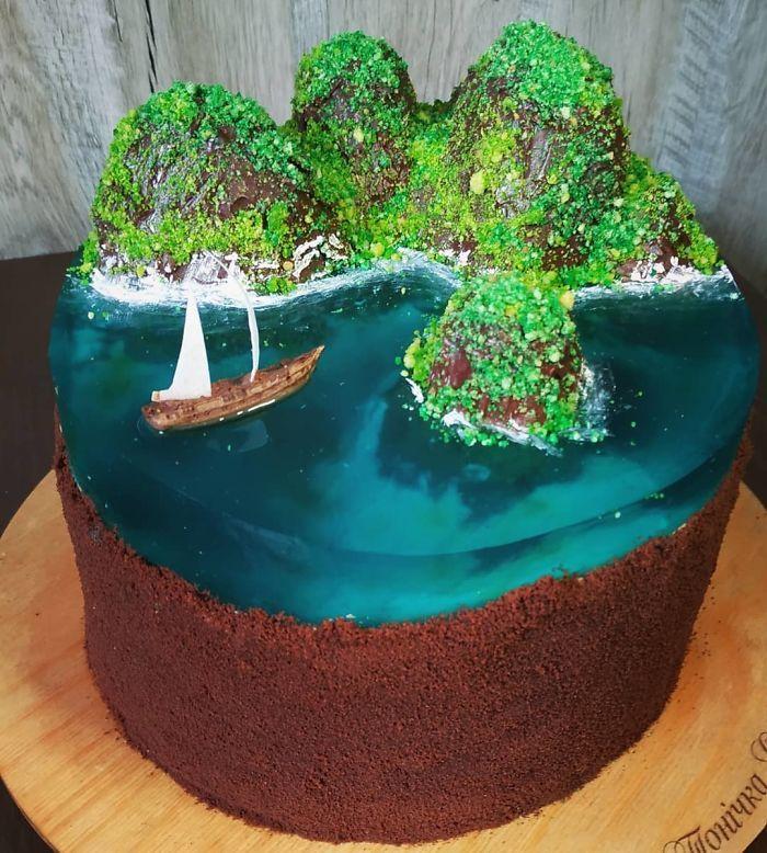 32 bolos que parecem ilhas paradisíacas 9