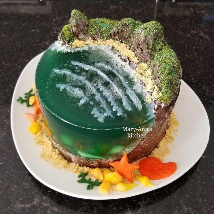 32 bolos que parecem ilhas paradisíacas 13