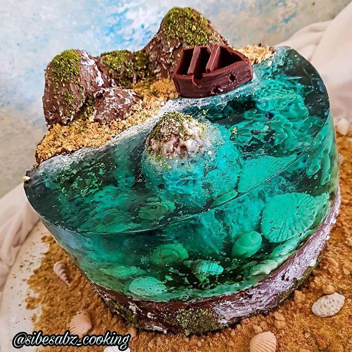32 bolos que parecem ilhas paradisíacas 17