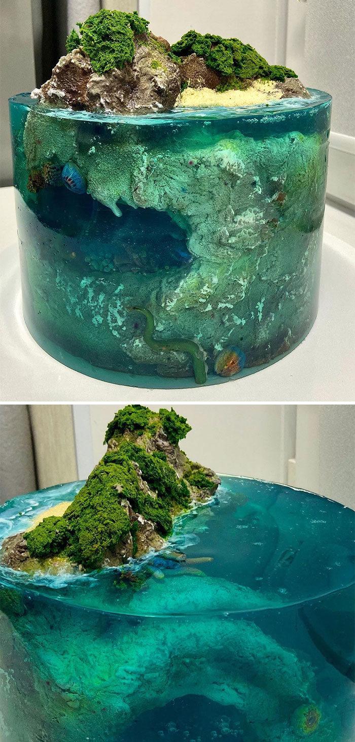 32 bolos que parecem ilhas paradisíacas 19