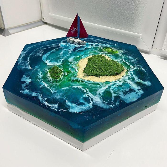 32 bolos que parecem ilhas paradisíacas 20