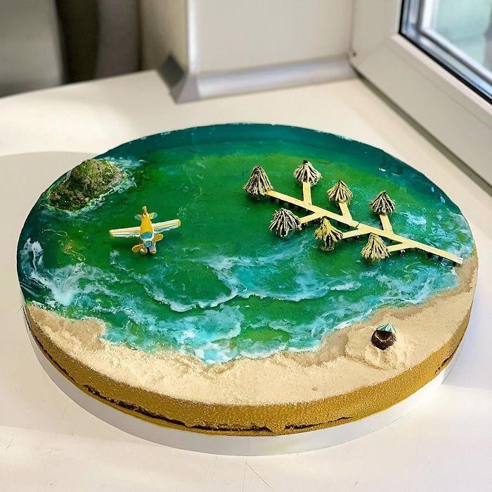 32 bolos que parecem ilhas paradisíacas 23