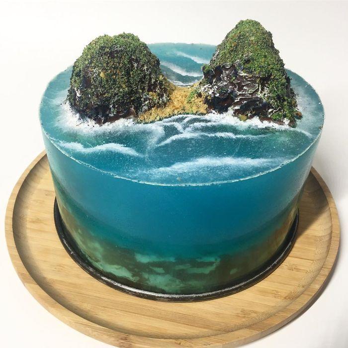 32 bolos que parecem ilhas paradisíacas 29