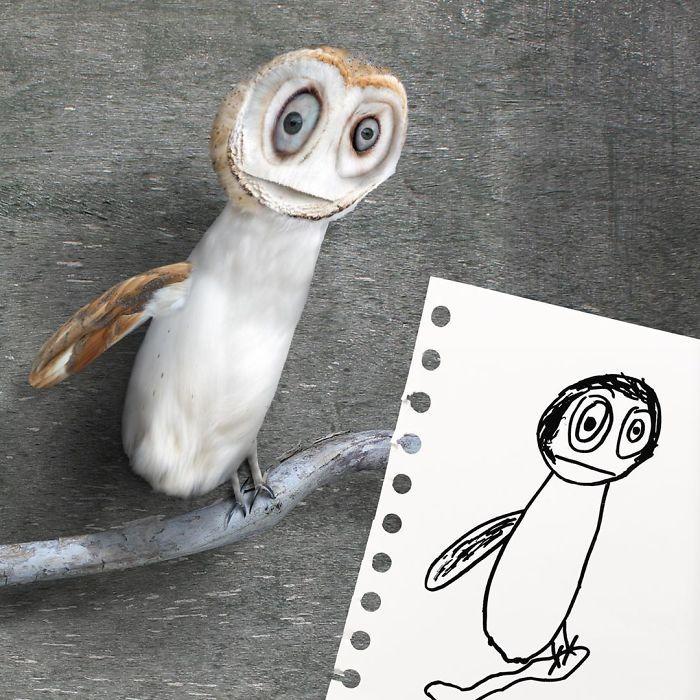 E se os desenhos das crianças ganhassem vida (40 fotos) 3