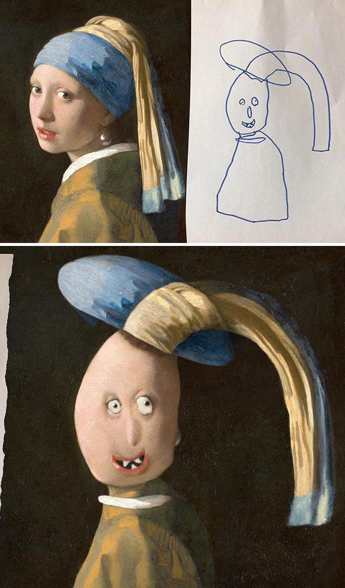 E se os desenhos das crianças ganhassem vida (40 fotos) 14