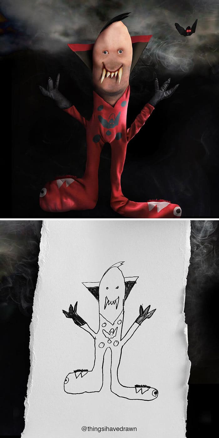 E se os desenhos das crianças ganhassem vida (40 fotos) 15