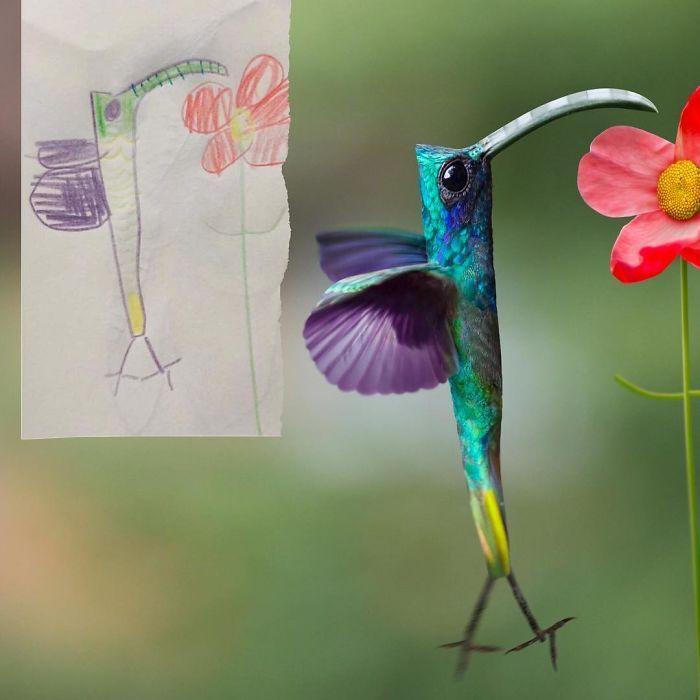 E se os desenhos das crianças ganhassem vida (40 fotos) 27