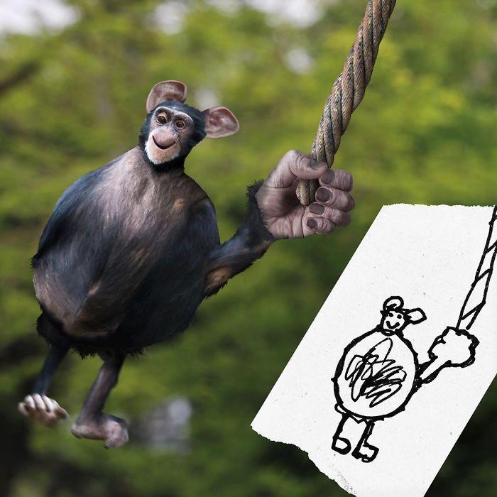 E se os desenhos das crianças ganhassem vida (40 fotos) 28
