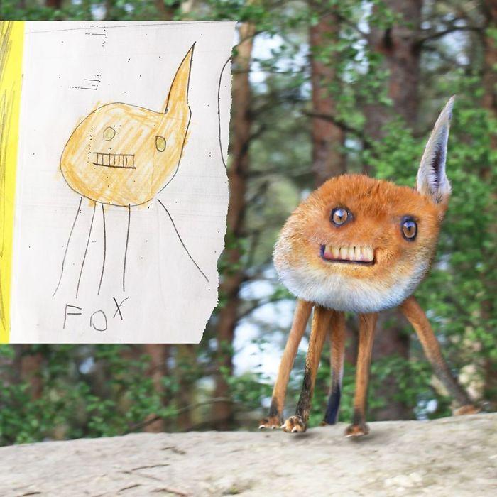 E se os desenhos das crianças ganhassem vida (40 fotos) 31
