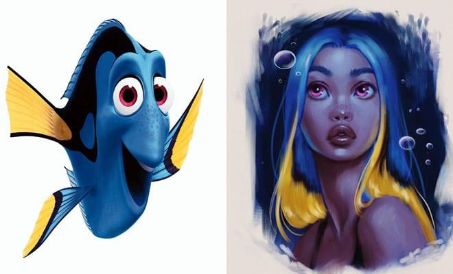 Esta artista transforma animais da Disney em seres humanos (5 fotos) 1