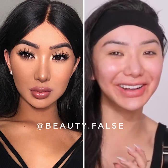 Esta conta do Instagram expõe influenciadores que mentem sobre sua verdadeira aparência (30 fotos) 28