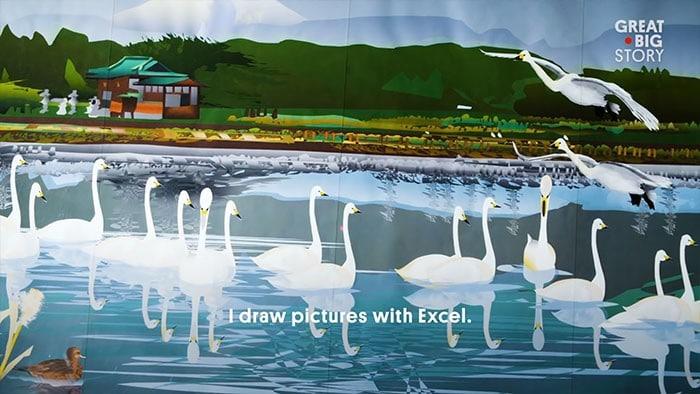 Homem de 80 anos domina Excel para criar pinturas incríveis (19 fotos) 17